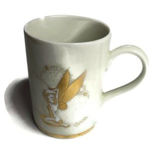 Walt Disney Gallery Tinkerbell Gold Coffee Mug Cup